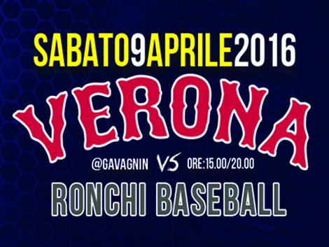 SABATO 9 APRILE: VERONA vs RONCHI @GAVA